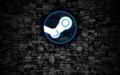 Steam Logo con giochi background