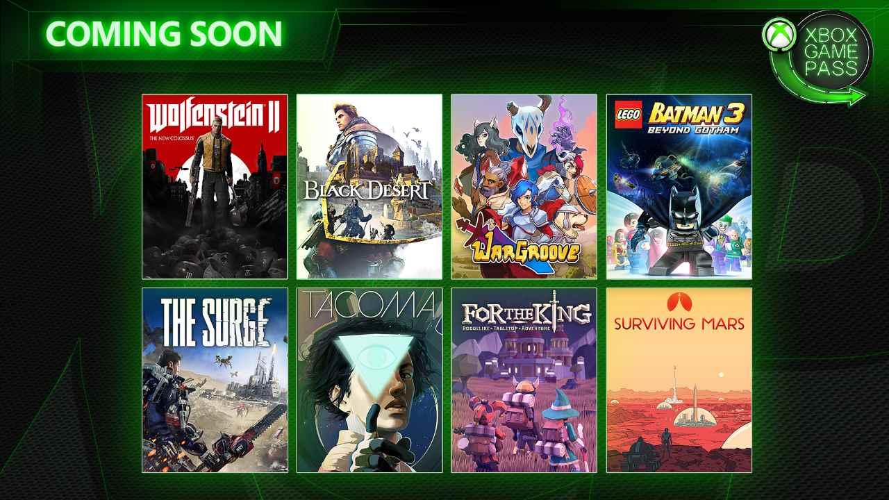 Xbox Game Pass, giochi di maggio 2019