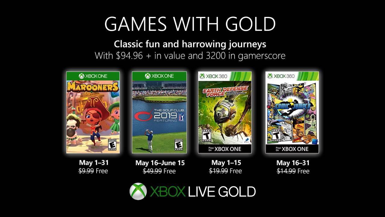 Games With Gold di maggio 2019