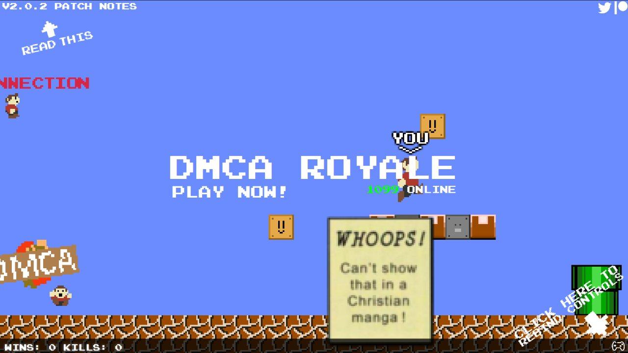 Mario Royale è ora DMCA Royale grazie a Nintendo