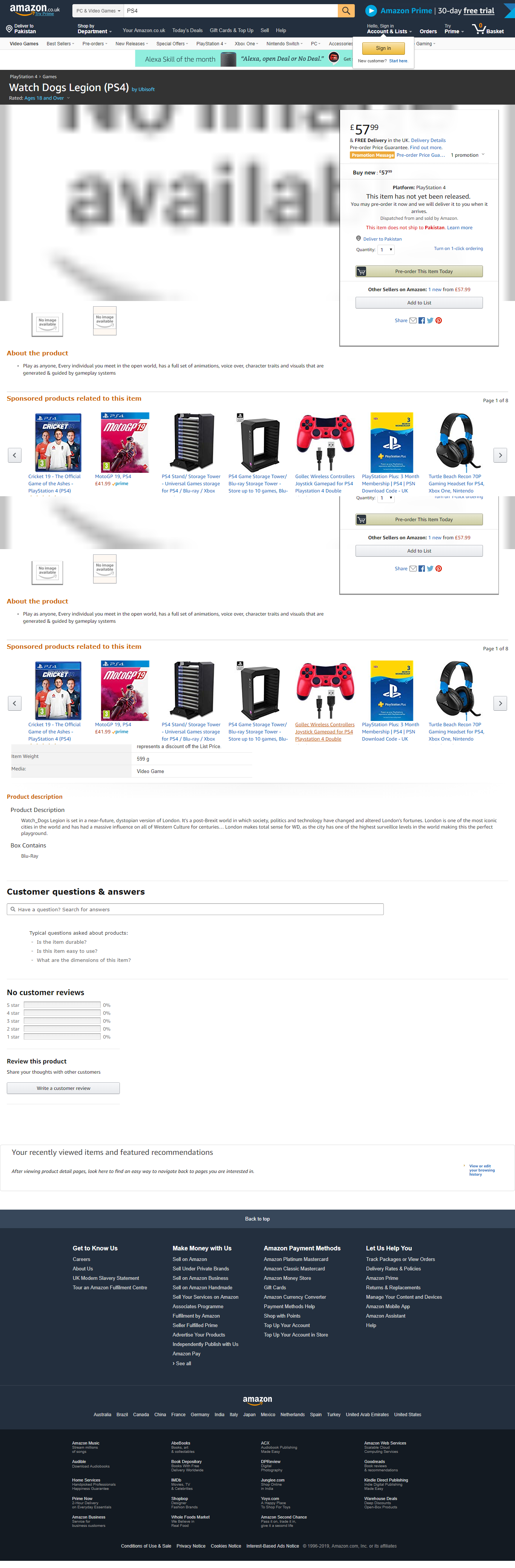 Watch Dogs 3 Amazon UK Leak
