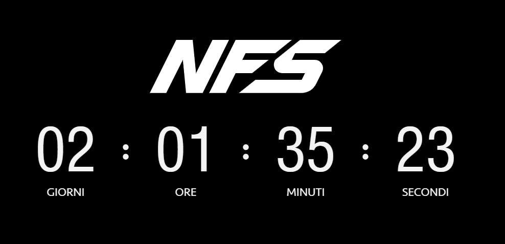 Countdown dedicato al nuovo Need for Speed