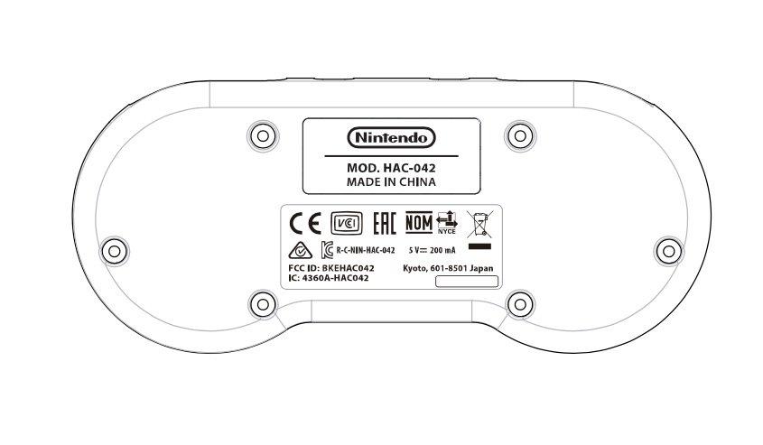Immagine del controller SNES per Switch