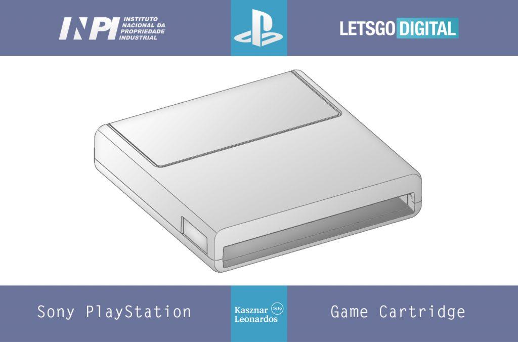 L'immagine del brevetto della cartuccia da gioco di PlayStation.