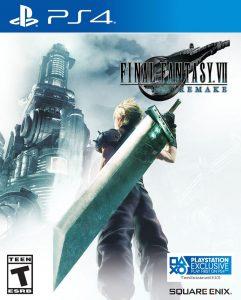La copertina di Final Fantasy 7 Remake per PS4.