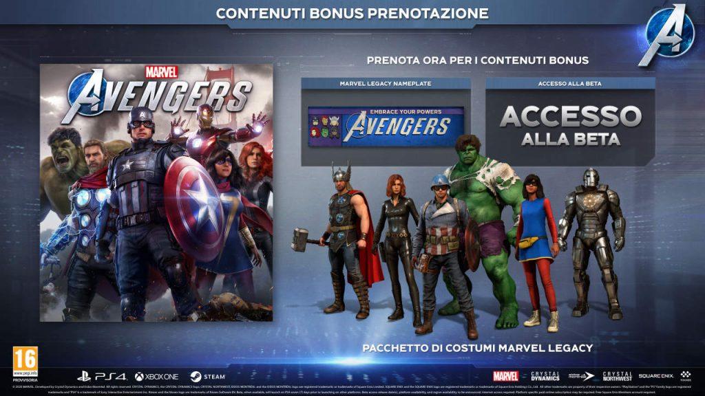 Contenuti pre-order di Marvel's Avengers