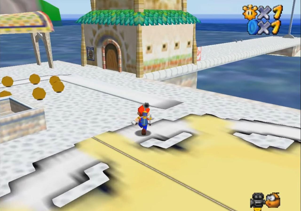 Super Mario Sunshine con il motore grafico di Super Mario 64? Eccolo in un video