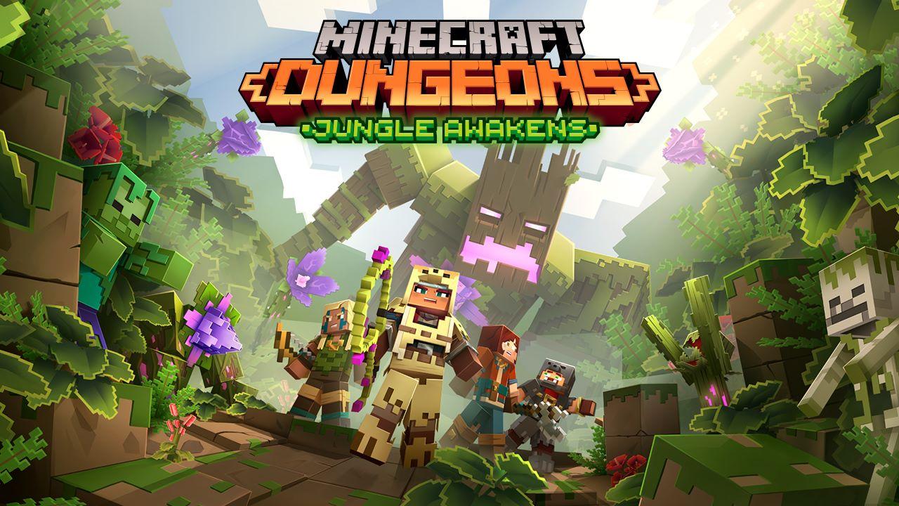 Minecraft Dungeons, annunciata la data di uscita del DLC Jungle Awakens, in arrivo un aggiornamento gratuito