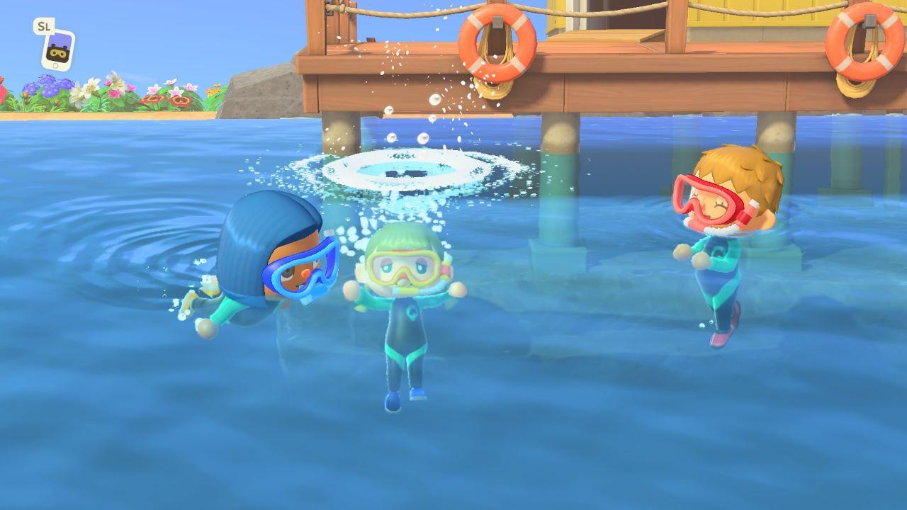 Animal Crossing New Horizons, l'aggiornamento di luglio introdurrà il nuoto, immersioni e altre novità