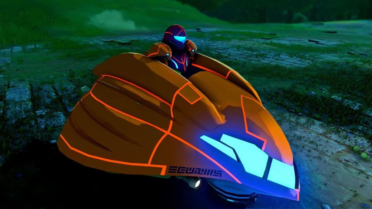 The Legend of Zelda Breath of the Wild, una nuova mod aggiunge Samus di Metroid e la sua navicella