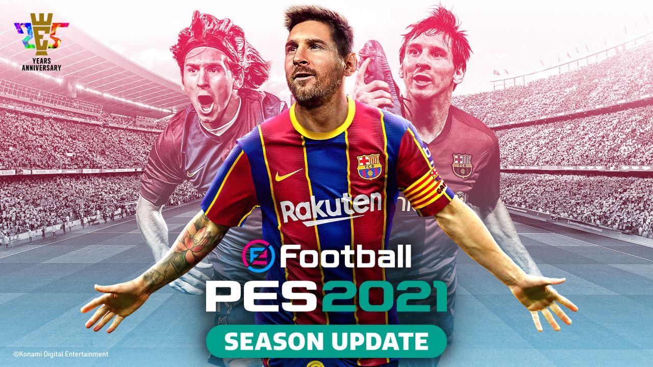 eFootball PES 2021 Season Update è disponibile da oggi, trailer di lancio