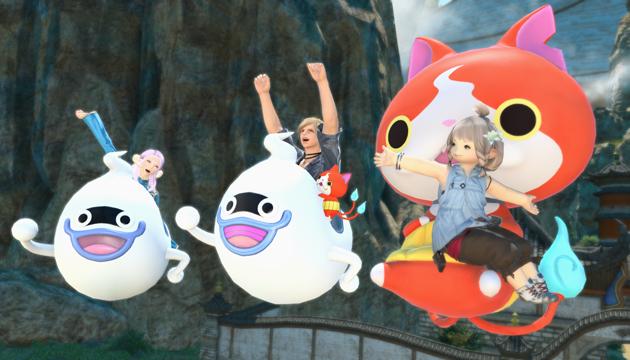 Final Fantasy 14 Online, torna oggi l'evento di Yo-Kai Watch, con minion, armi e tante novità