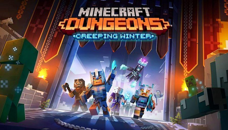 Minecraft Dungeons, il DLC Creeping Winter introdurrà il ghiaccio scivoloso e le prove giornaliere