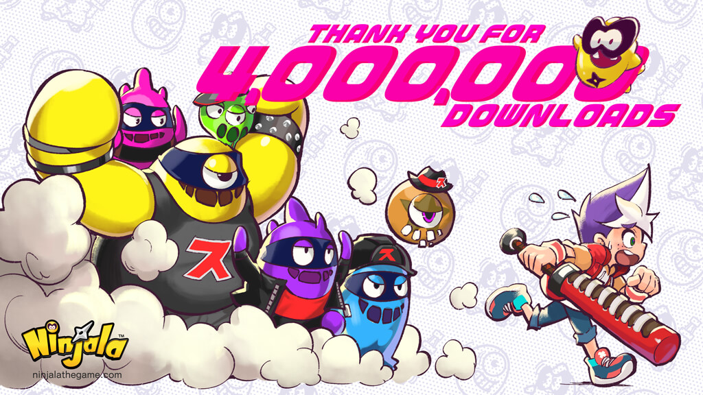 Ninjala, superati i 4 milioni di download, 100 Jala gratis in regalo per tutti (di nuovo)