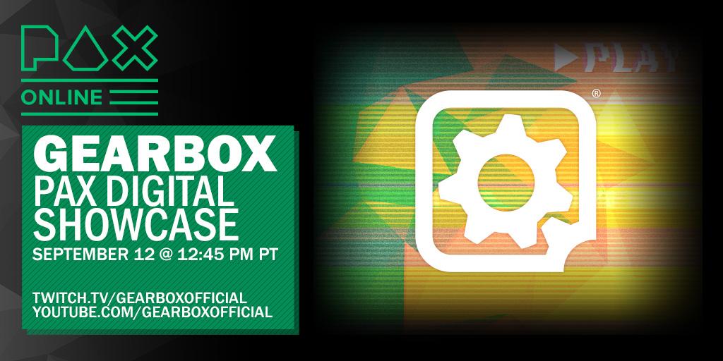 Gearbox Software Digital Showcase annunciato per la PAX Online, data e ora dell'evento, ci saranno novità su Borderlands e non solo