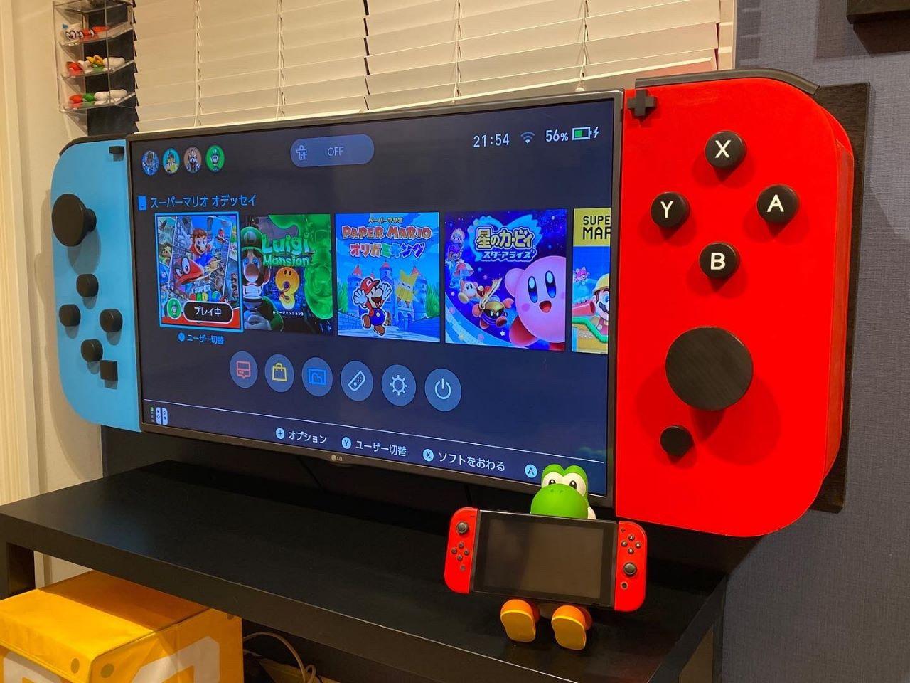 Una TV diventa un'enorme Nintendo Switch in Giappone, ed è ottima