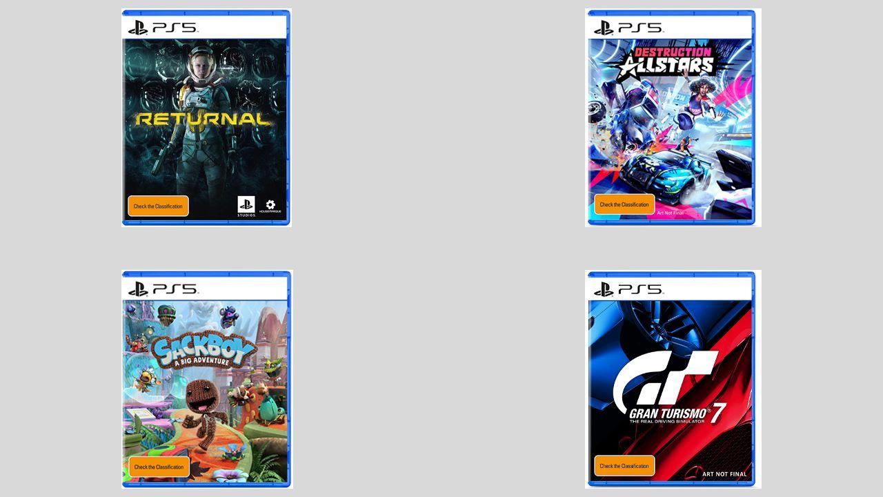 PS5, spuntano in rete le copertine di Sackboy A Big Adventure, Returnal, Destruction All-Stars e Gran Turismo 7 (non finale)