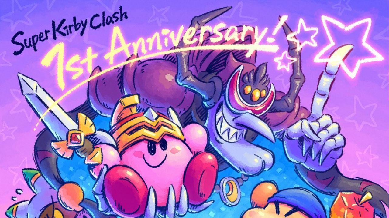 Super Kirby Clash compie un anno, Nintendo festeggia con un artwork
