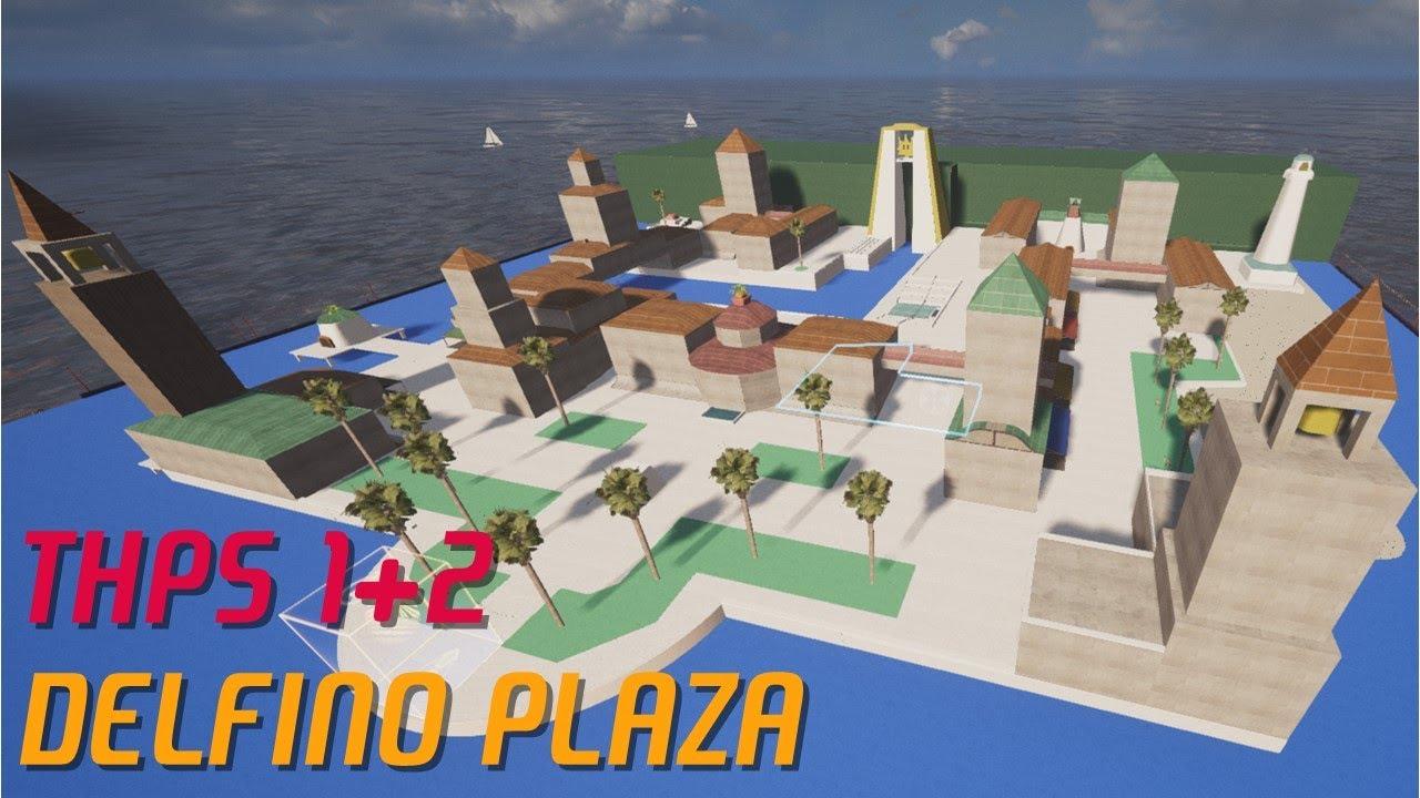 Qualcuno ha ricreato Delfino Plaza di Mario Sunshine e Bomb-omb Battlefield di Mario 64 in Tony Hawk's Pro Skater