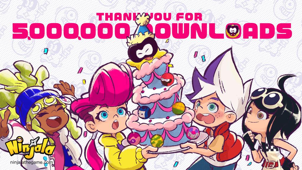 Ninjala ha raggiunto i cinque milioni di download, in arrivo un regalo per tutti