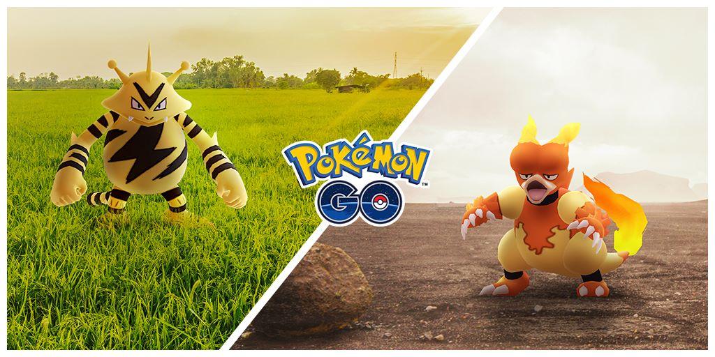 Pokémon GO, Electabuzz e Magmar saranno i protagonisti degli eventi del Community Day di novembre 2020