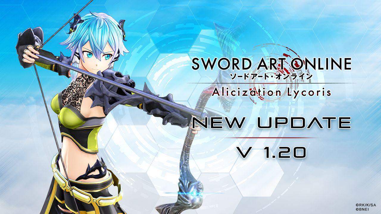 Sword Art Online Alicization Lycoris, update 1.20 ora disponibile: aggiunge la storia Antichi apostoli: Il mietitore dei boschi