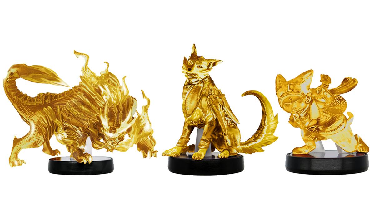 Monster Hunter Rise, degli Amiibo d'oro saranno presto venduti in Giappone