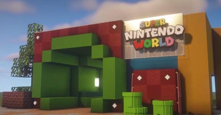 Non si può andare al Super Nintendo World? Qualcuno lo ricrea in Minecraft