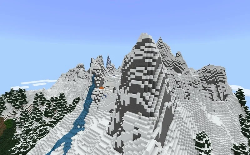 Minecraft Bedrock Edition, la nuova beta 1.16.220.50 aggiunge le montagne del Caves and Cliffs Update