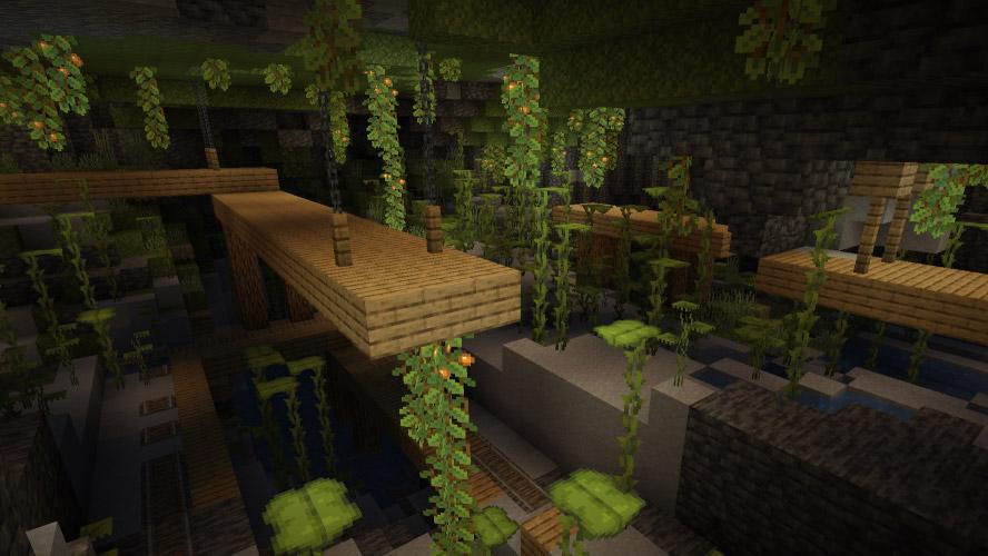 Minecraft, arriva un nuovo tipo di caverne con lo snapshot 21W10A, le Lush Caves