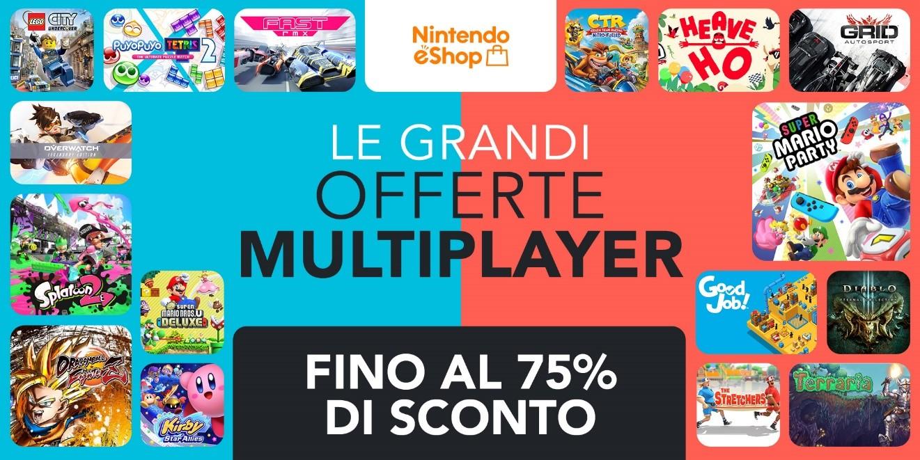Nintendo eShop sconti, al via le Grandi Offerte Multiplayer: oltre 190 giochi per Switch scontati con la nuova promozione