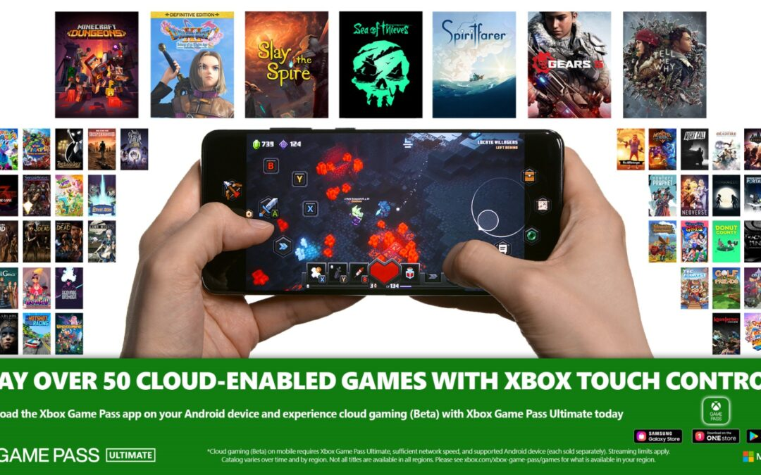 Xbox Game Pass, ora più di 50 giochi supportano i controlli touch su cloud da mobile