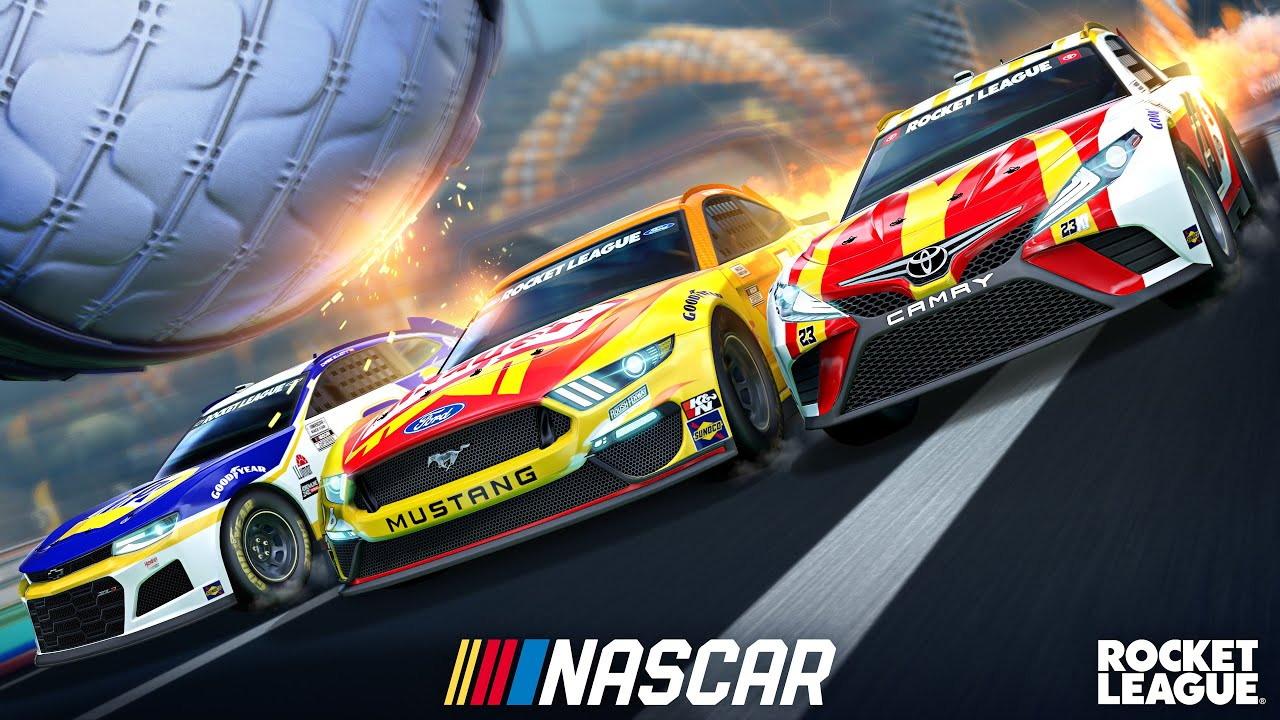 Rocket League, il nuovo trailer presenta il NASCAR 2021 Fan Pack: arriva il 6 maggio