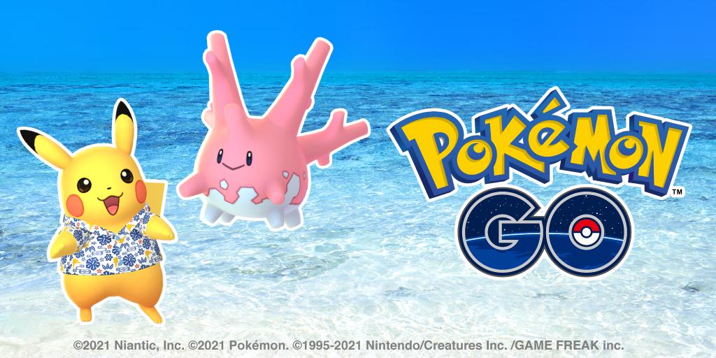 Pokémon GO, un Pikachu in costume ad Okinawa e Corsola cromatico in arrivo a luglio