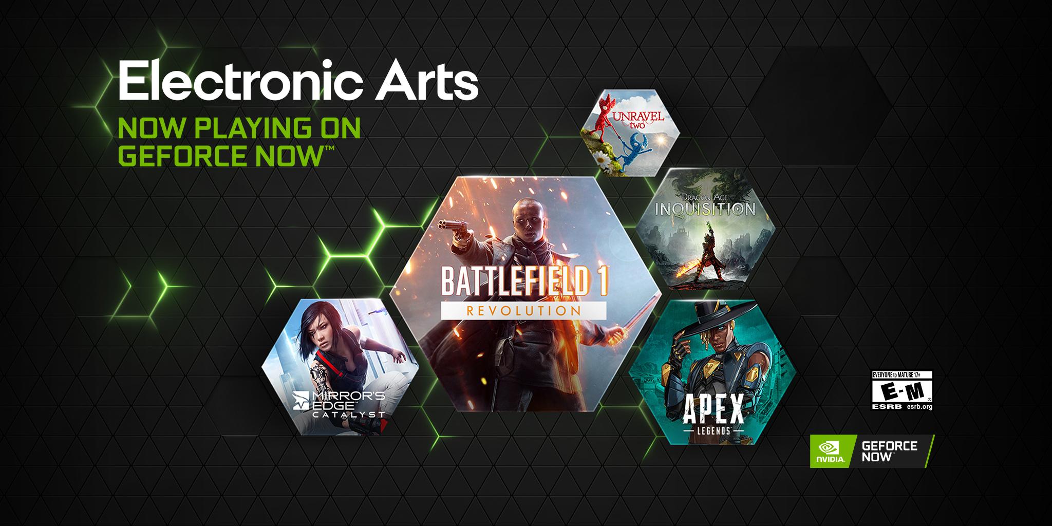 GeForce Now, arrivano i primi giochi di Electronic Arts