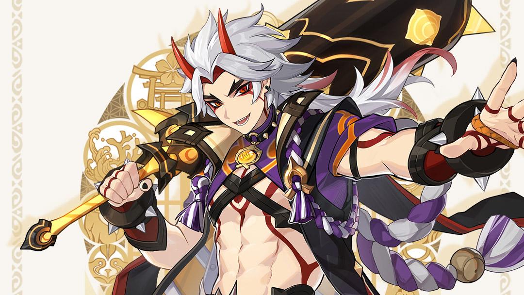Genshin Impact, presentato Arataki Itto: è un nuovo personaggio Geo