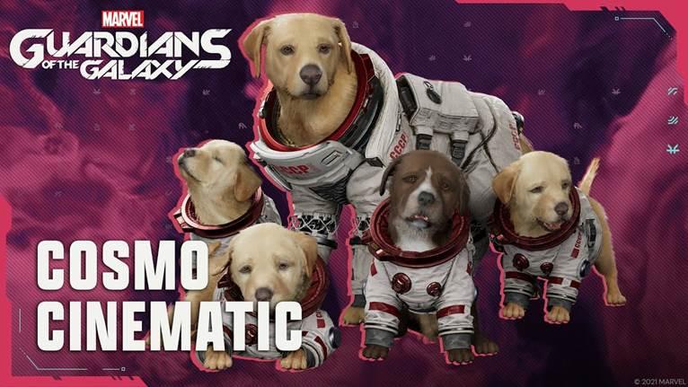 Marvel's Guardians of the Galaxy, un nuovo video è dedicato a Cosmo, il cane spaziale