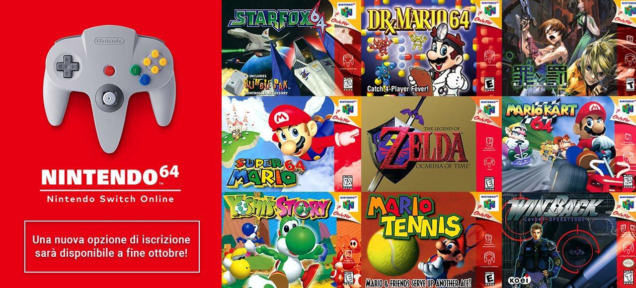 Nintendo Switch Online, tutti i giochi per Nintendo 64 saranno giocabili in inglese e a 60hz in Europa